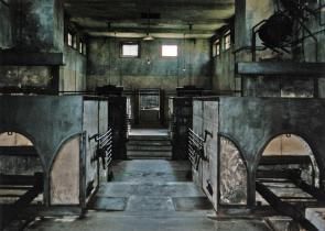 "Czech Republic, Terezin Fortress ""Jewish War Crematorium - interior of the crematory during conservation treatment; in background interior walls after conservation."" 2003 Amex Progress Report October 2005 original - print"